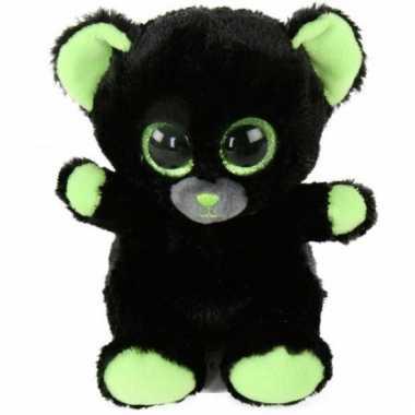 Baby zwarte panter knuffeldier neo