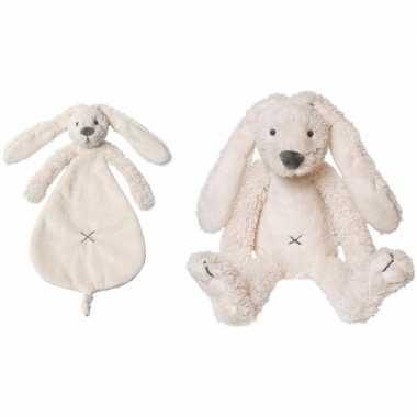 Happy horse witte konijnen baby knuffeltje knuffeldoekje richie