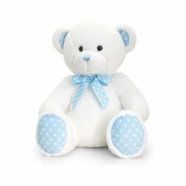 Kraamkado baby boy beer blauw knuffel