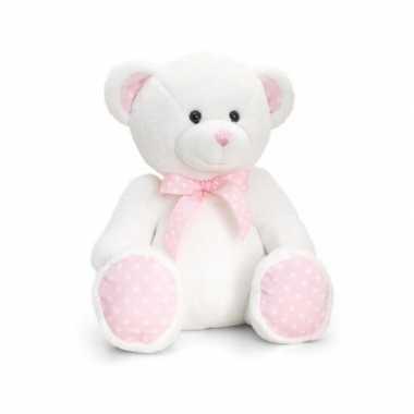 Kraamkado baby girl beer roze knuffel
