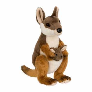 Pluche kangoeroe baby knuffel