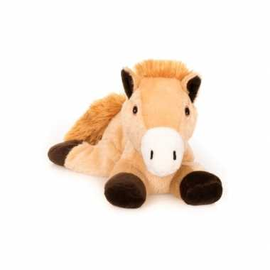 Warm knuffel bruin paard babyshower kado