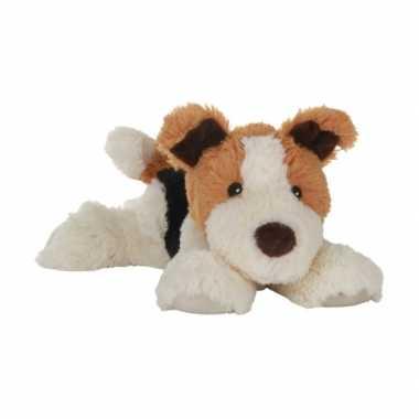 Warm knuffel hond babyshower kado