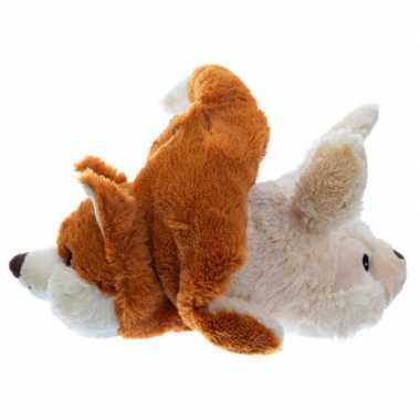 Warm knuffel konijn/vos babyshower kado