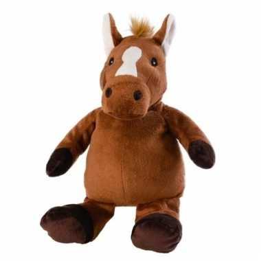 Warm knuffel paard babyshower kado