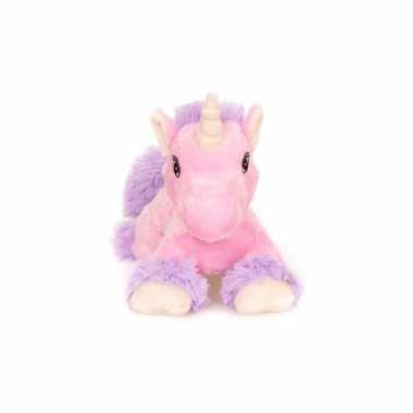 Warm knuffel roze paard vleugels babyshower kado