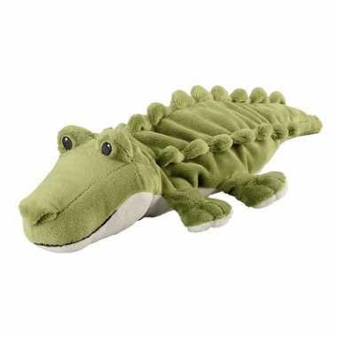 Warmte knuffel krokodil babyshower kado