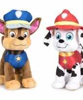 Baby paw patrol knuffels set karakters chase marshall 10247277