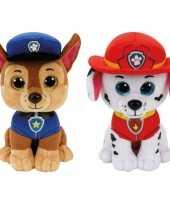 Baby paw patrol knuffels set karakters chase marshall