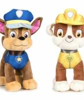 Baby paw patrol knuffels set karakters chase rubble 10247275