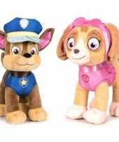 Baby paw patrol knuffels set karakters chase skye 10247274