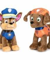 Baby paw patrol knuffels set karakters chase zuma 10247495