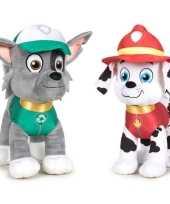 Baby paw patrol knuffels set karakters rocky marshall