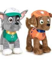 Baby paw patrol knuffels set karakters rocky zuma 10247505