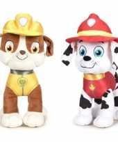 Baby paw patrol knuffels set karakters rubble marshall 10247278