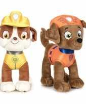 Baby paw patrol knuffels set karakters rubble zuma 10247509