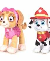 Baby paw patrol knuffels set karakters skye marshall