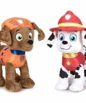 Baby paw patrol knuffels set karakters zuma marshall