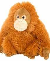 Baby pluche knuffeltje orang utan oranje vrouwtje