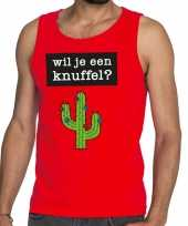 Baby toppers wil je een knuffel tekst tanktop mouwloos shirt rood