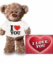 Baby valentijn valentijnskaart knuffelbeer i love you shirt