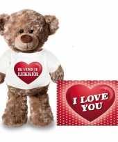 Baby valentijn valentijnskaart knuffelbeer ik vind je lekker shirt