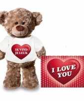 Baby valentijn valentijnskaart knuffelbeer ik vind je leuk shirt
