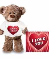 Baby valentijn valentijnskaart knuffelbeer ik vind je lief shirt