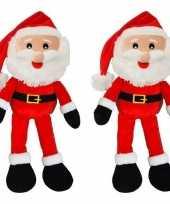 Baby x etalage presentatie kerstmannen decoratiepop knuffel